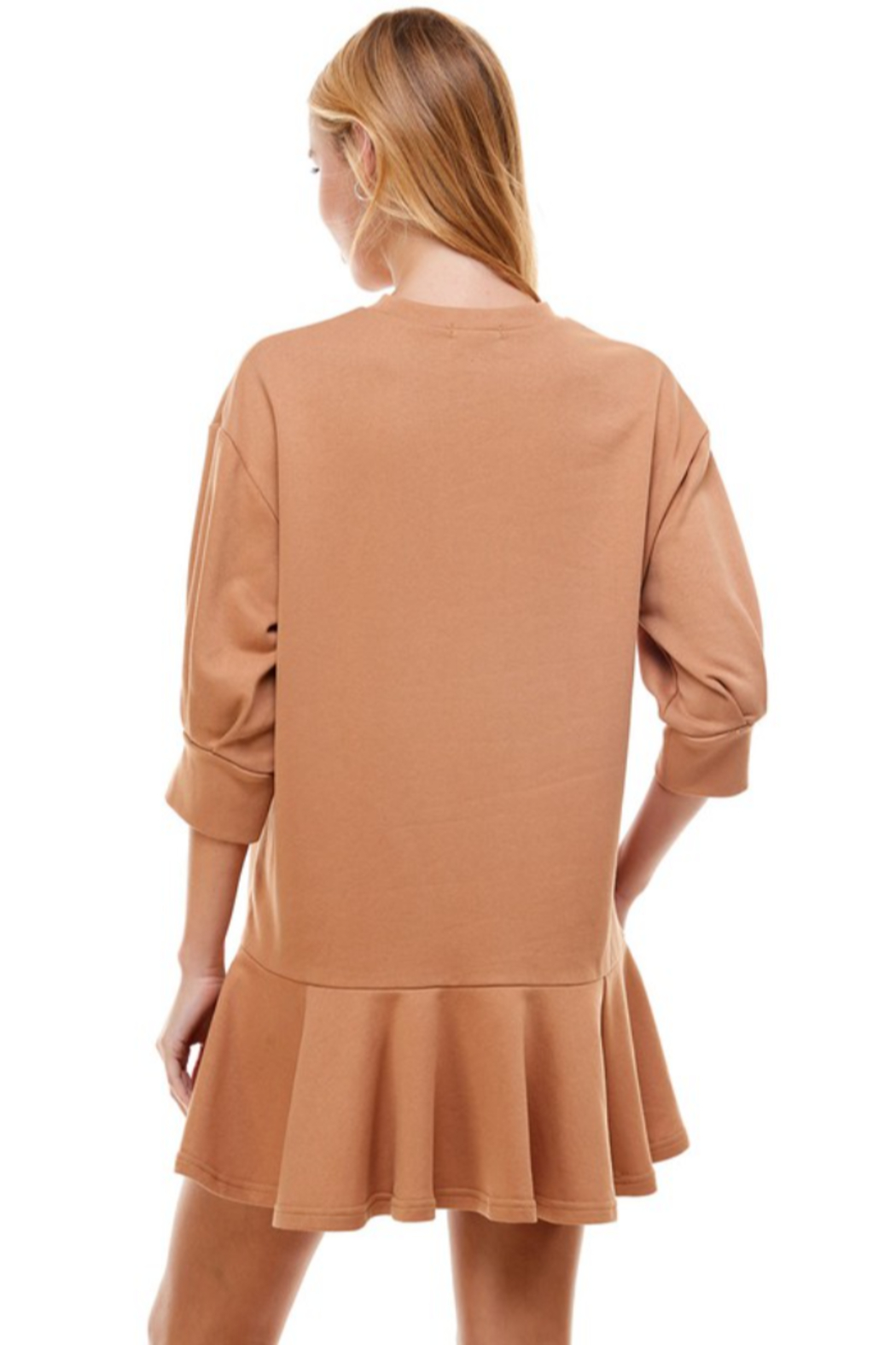 TCEC Crew Neck Sweatshirt Dress - Side Cropped Image