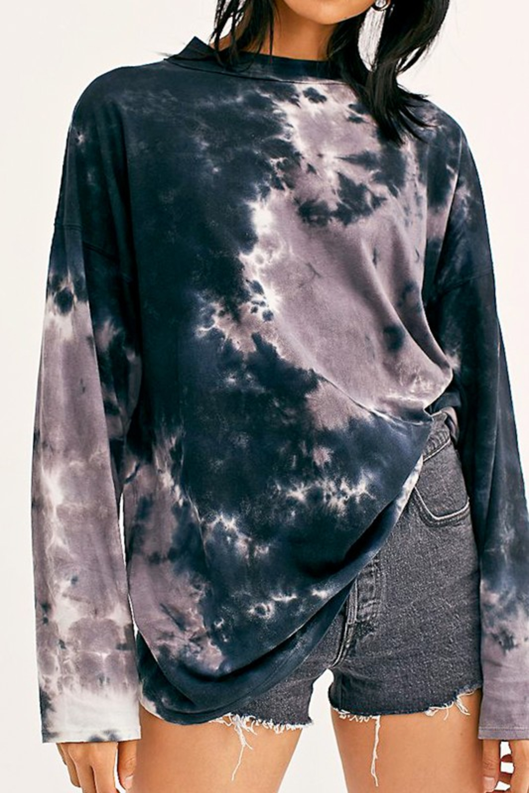 Mazik Crew Neck Tie Dye - Front Cropped Image