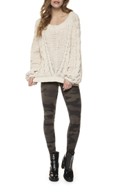 Dex Crew Neck Wide Slv Cable Knit Sweater - Product Mini Image