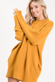 Apple B  Crew Sweater dress - Side cropped