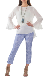 Bali Corp. Crewneck Bell Sleeve Blouse - Product Mini Image