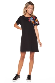 Dex Crewneck Embroidered Dress - Product Mini Image