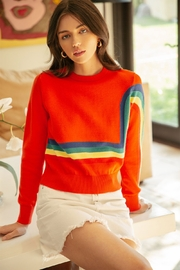 Thml Crewneck Rainbow Sweater - Front cropped