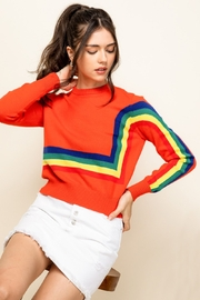 Thml Crewneck Rainbow Sweater - Side cropped
