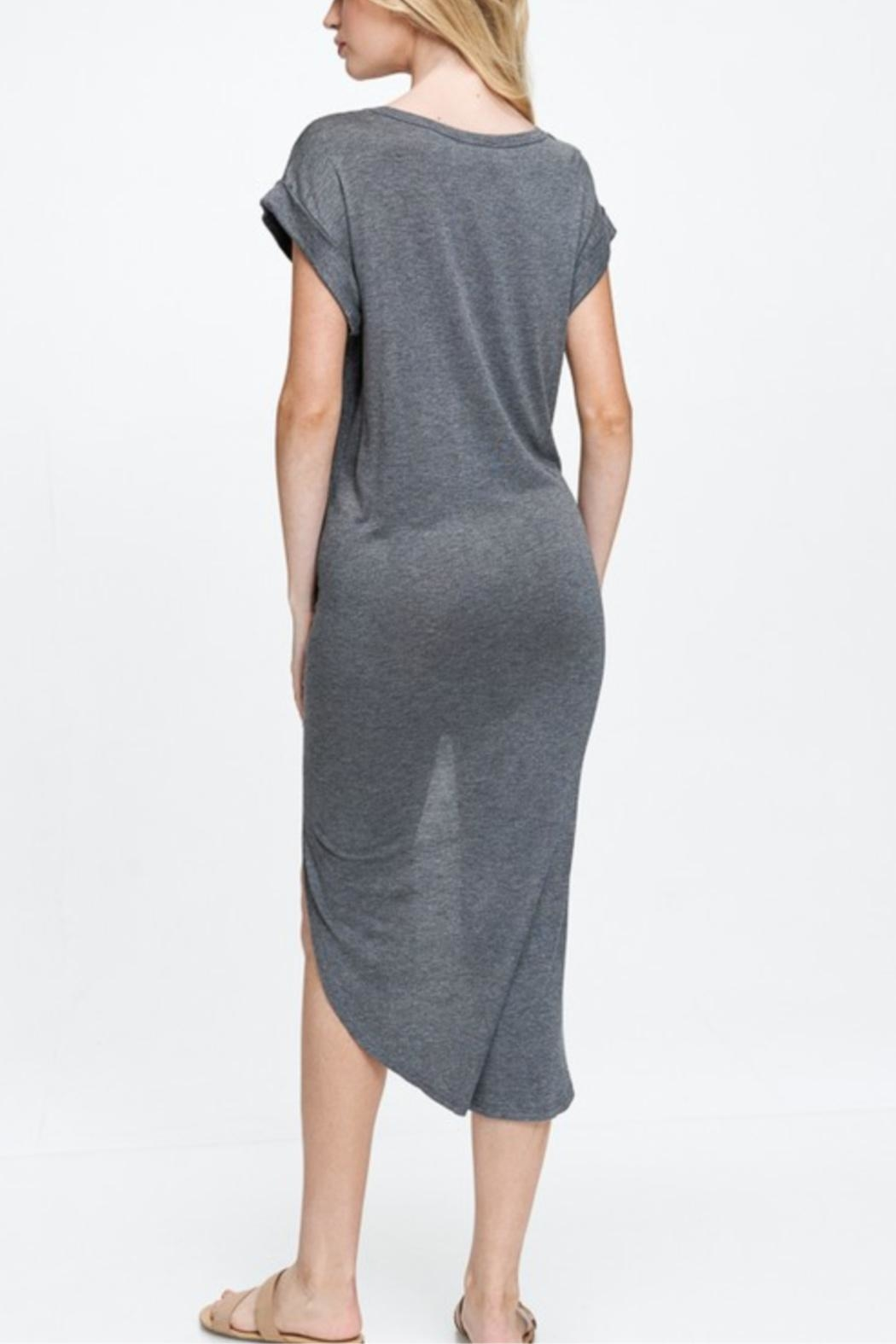 Jolie Crewneck T-Shirt Dress - Side Cropped Image