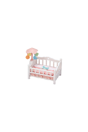Calico Critters Crib With Mobile - Front cropped