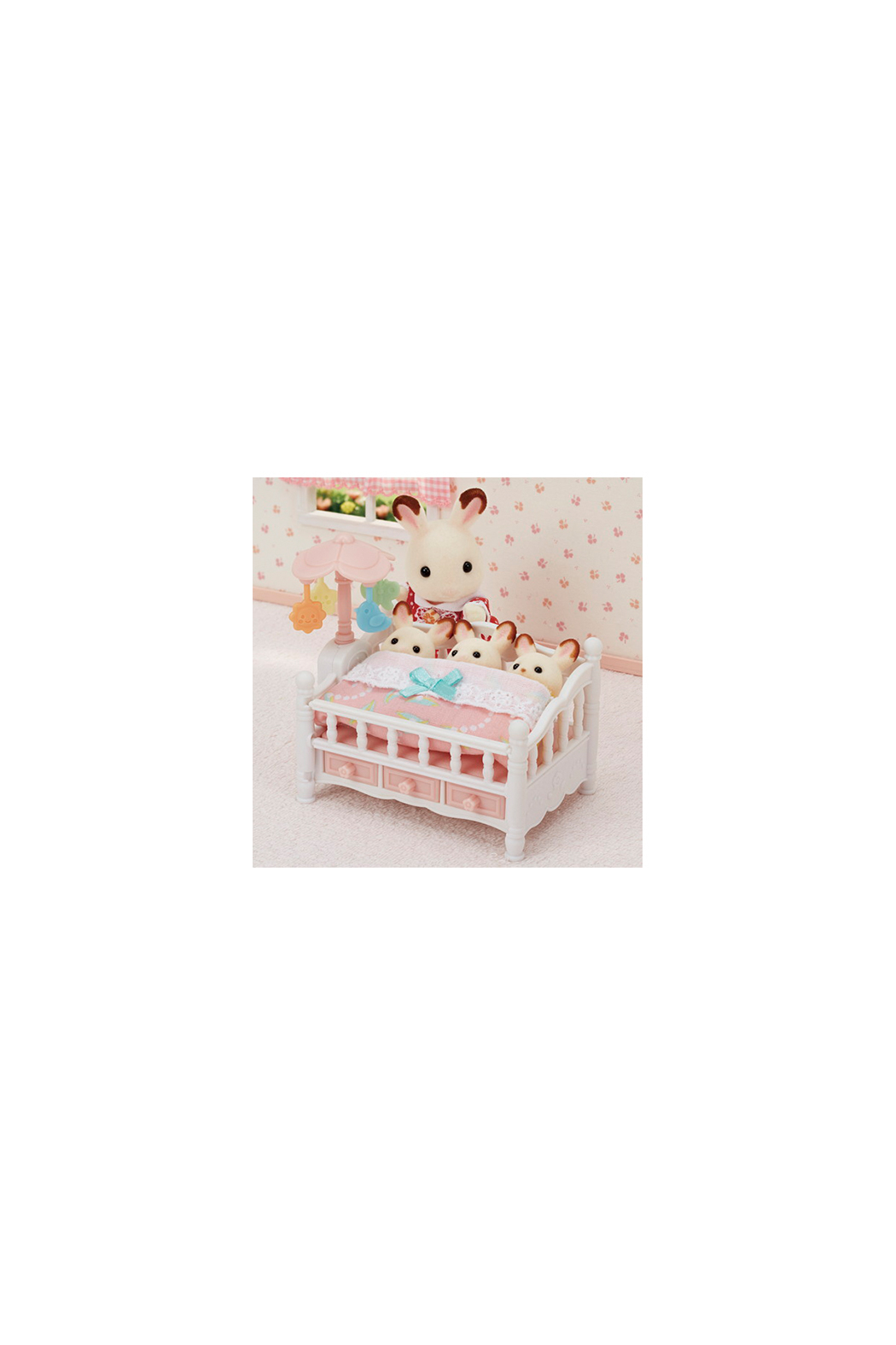 Calico Critters Crib With Mobile - Front Full Image