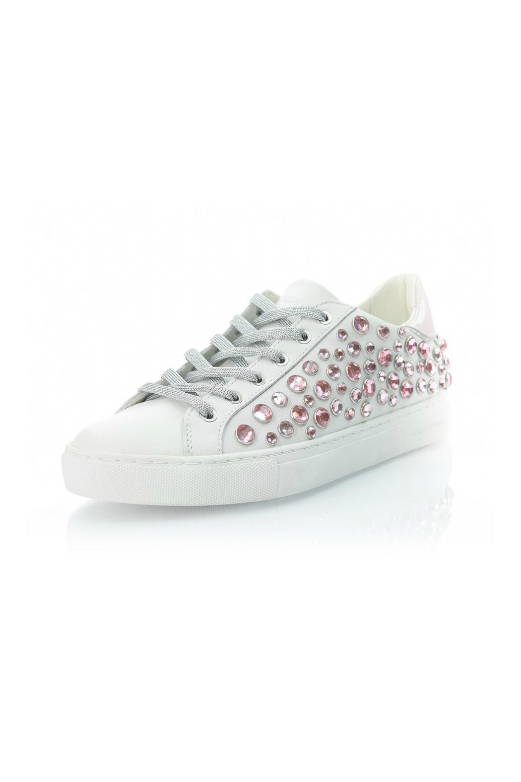 Crime London Pink Rhinestone Sneaker - Main Image