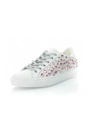Crime London Pink Rhinestone Sneaker - Front cropped