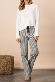 Margaret O'Leary Crimped Cotton Pullover - Back cropped