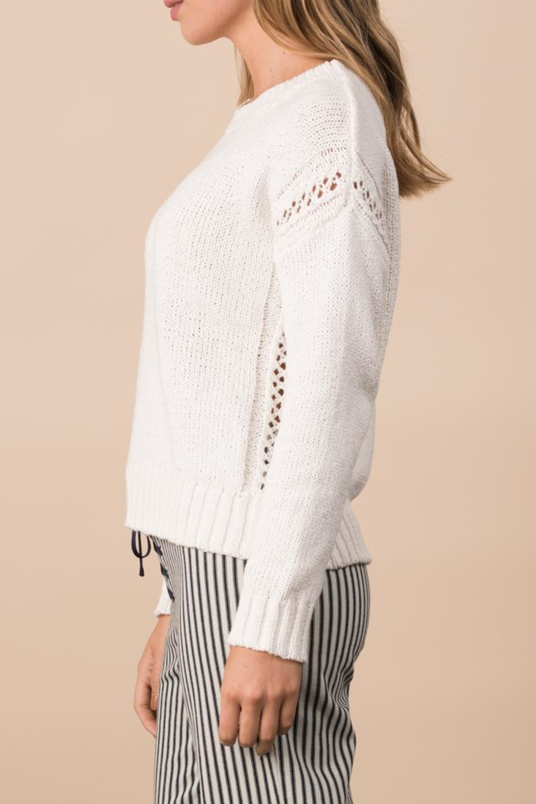 Margaret O'Leary Crimped Cotton Pullover - Front Full Image