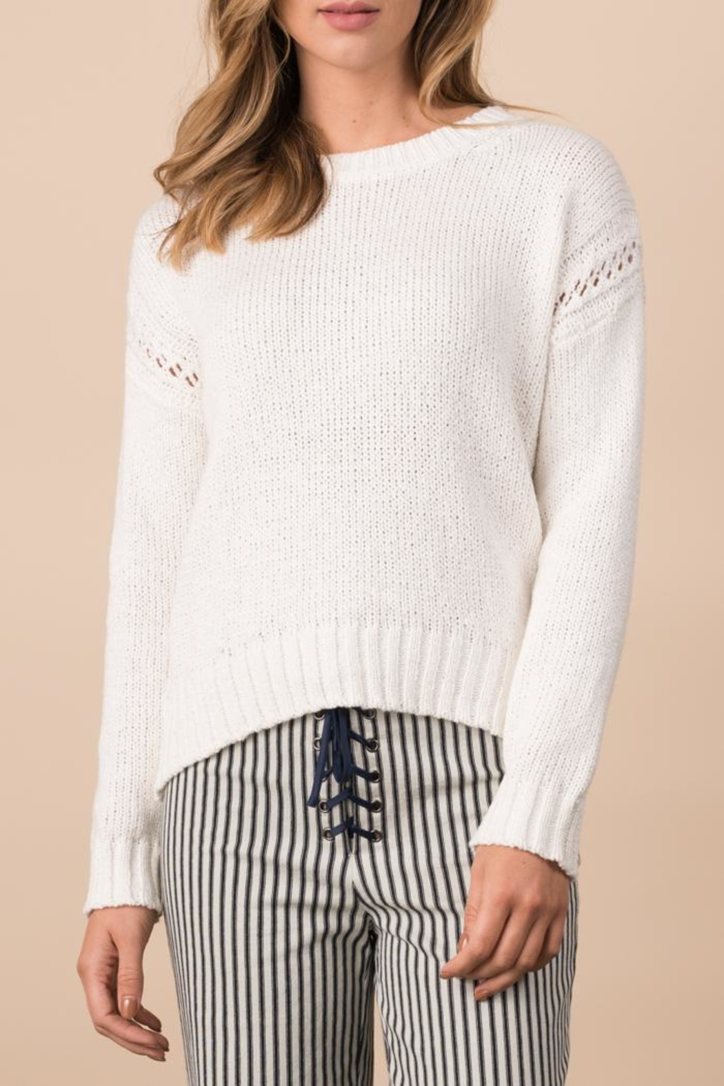 Margaret O'Leary Crimped Cotton Pullover - Front Cropped Image