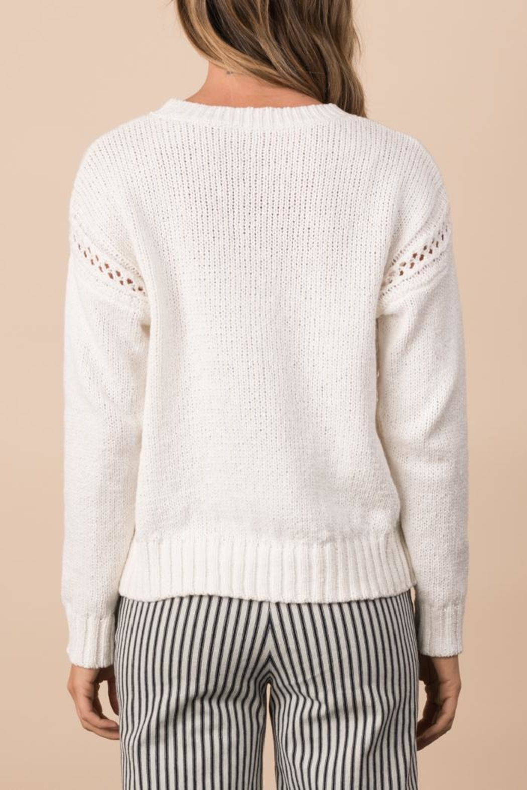 Margaret O'Leary Crimped Cotton Pullover - Side Cropped Image