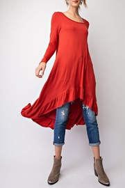 easel Crimson High-Low Tunic-Dress - Product Mini Image