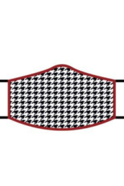 DiJore Crimson Houndstooth Face Mask - Product Mini Image