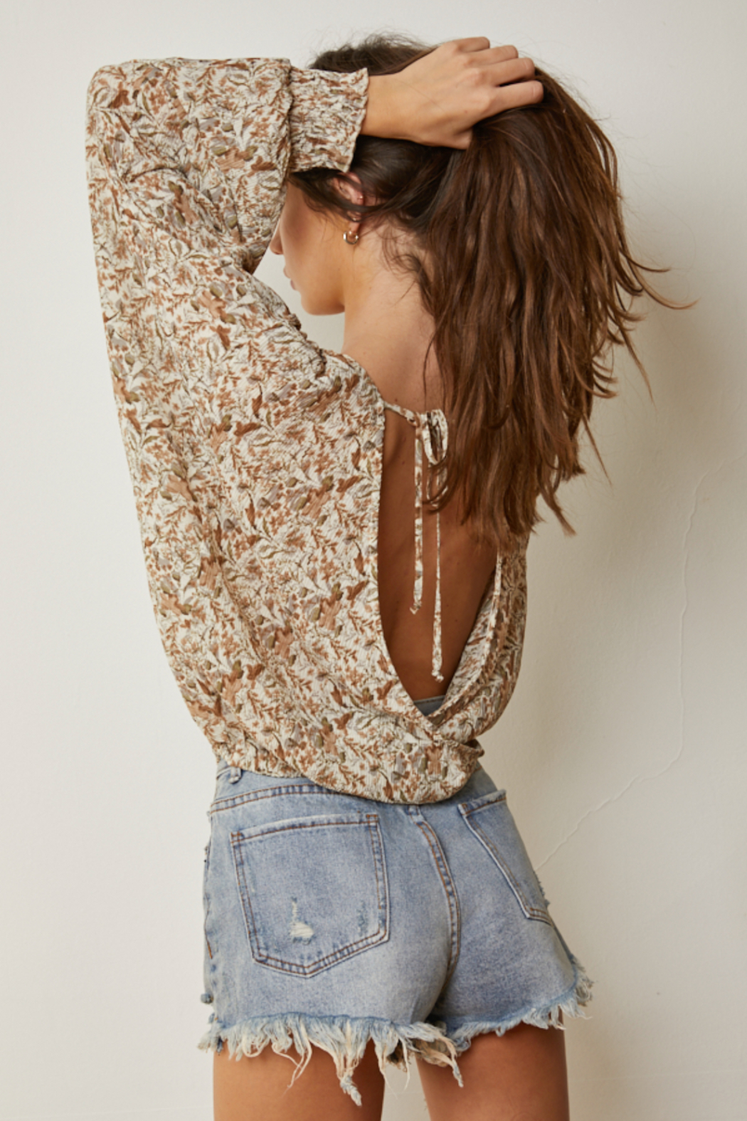 By Together  Crinkle Chiffon Overlap Blouse - Side Cropped Image
