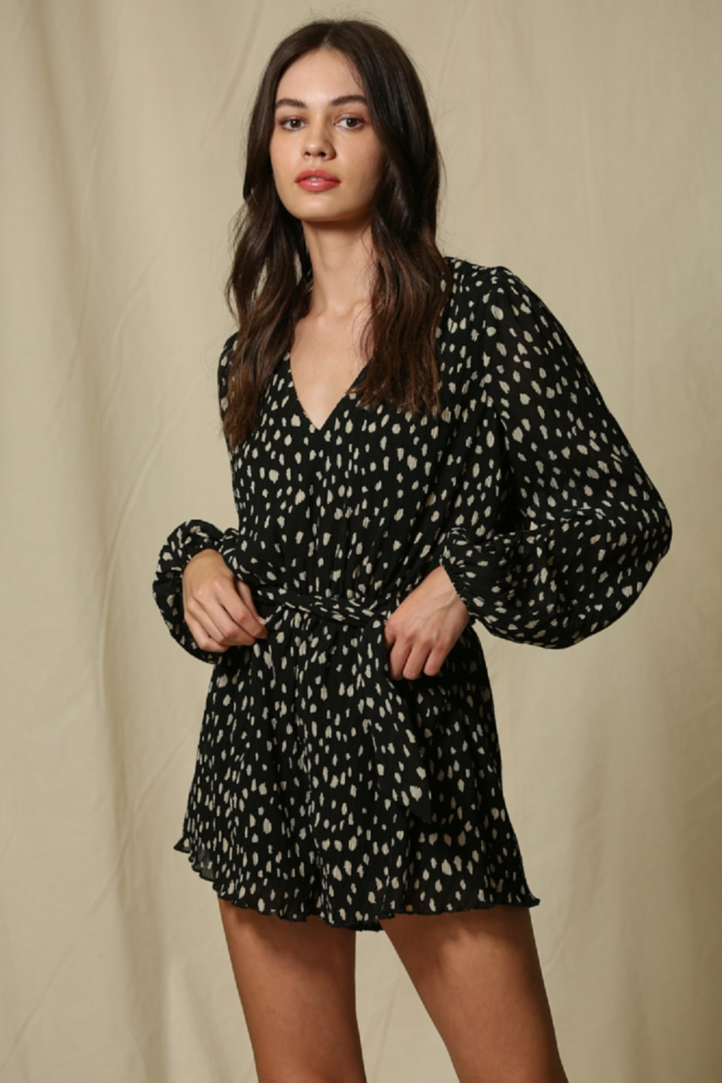 By Together  Crinkle Chiffon Romper - Main Image