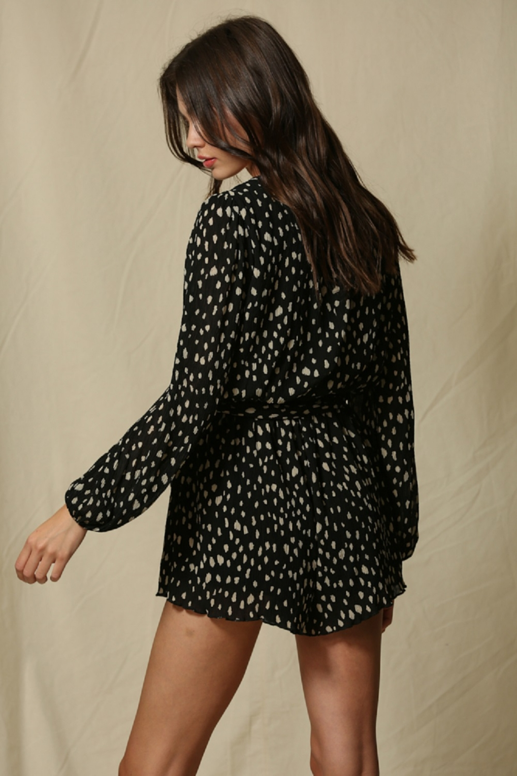 By Together  Crinkle Chiffon Romper - Front Full Image
