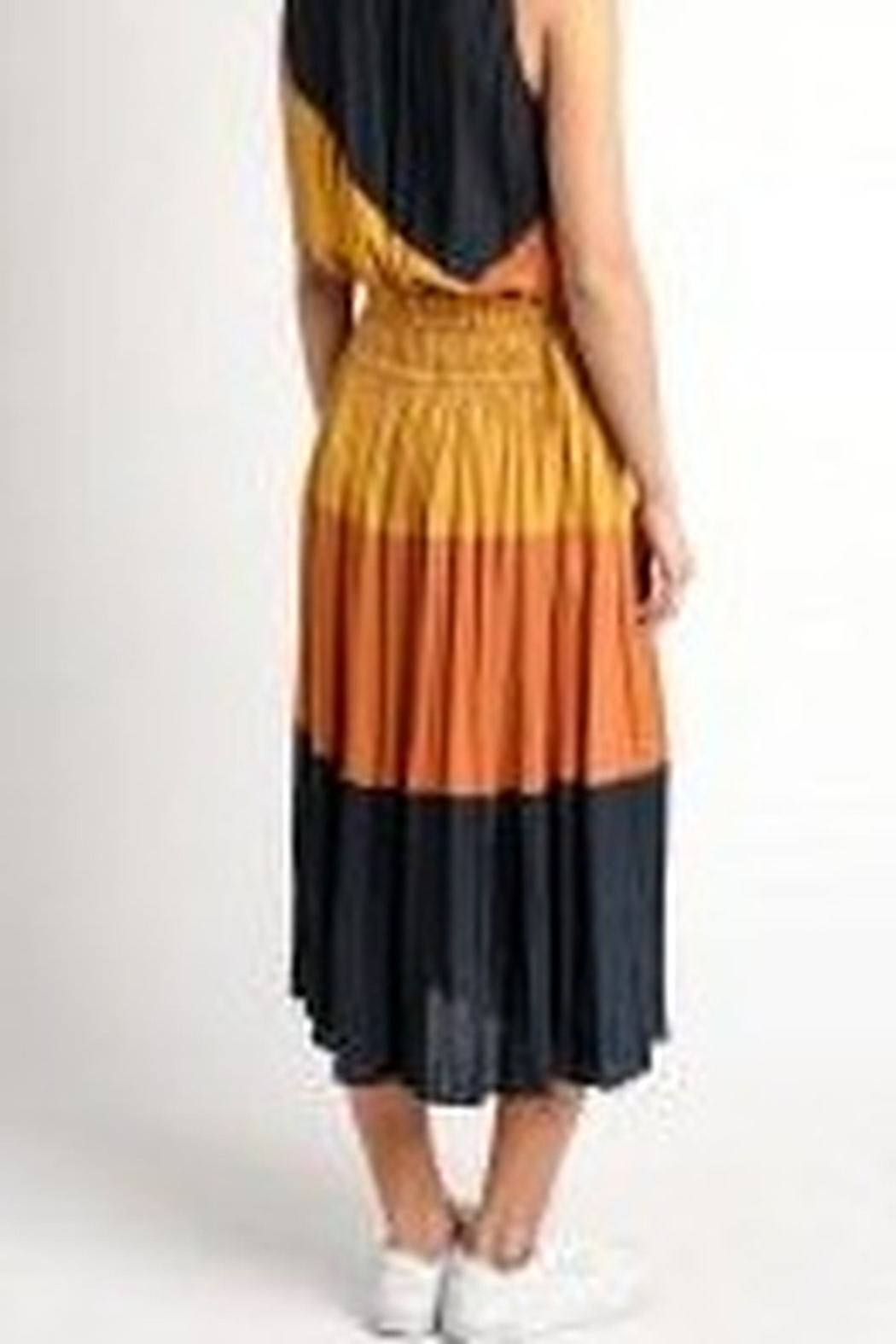 Current Air Crinkle Color Block Skirt - Side Cropped Image