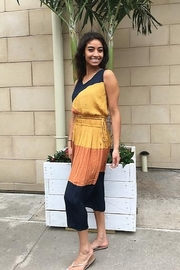 Current Air Crinkle Color Block Skirt - Front full body