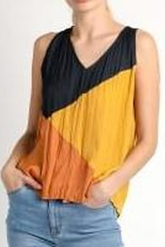 Current Air Crinkle Color Block Tank Blouse - Product List Image