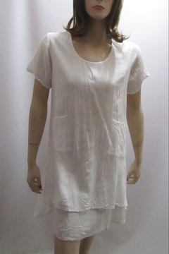 Shoptiques Product: CRINKLE COTTON WHITE DRESS