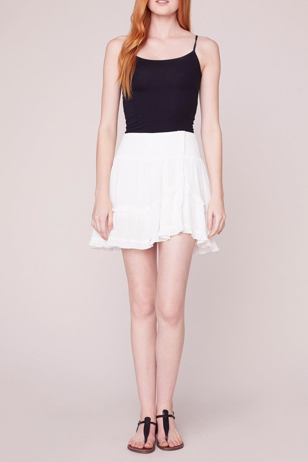 Jack by BB Dakota Crinkle Flounce Skirt - Front Cropped Image