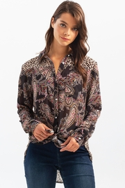 Charlie B. Crinkle Georgette Printed Blouse - Product Mini Image