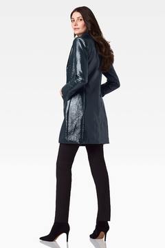 Ecru Crinkle Patent Slim Coat - Alternate List Image