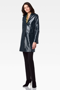 Ecru Crinkle Patent Slim Coat - Product List Image