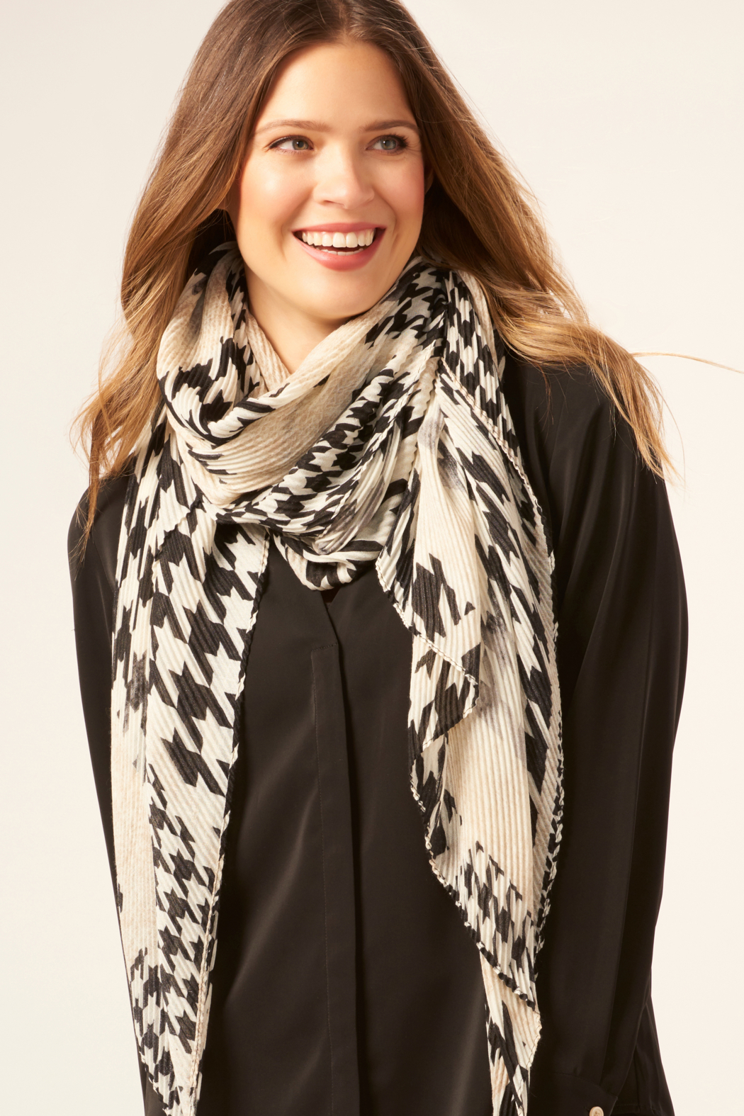 Giftcraft Inc.  Crinkle Printed Scarf - Main Image