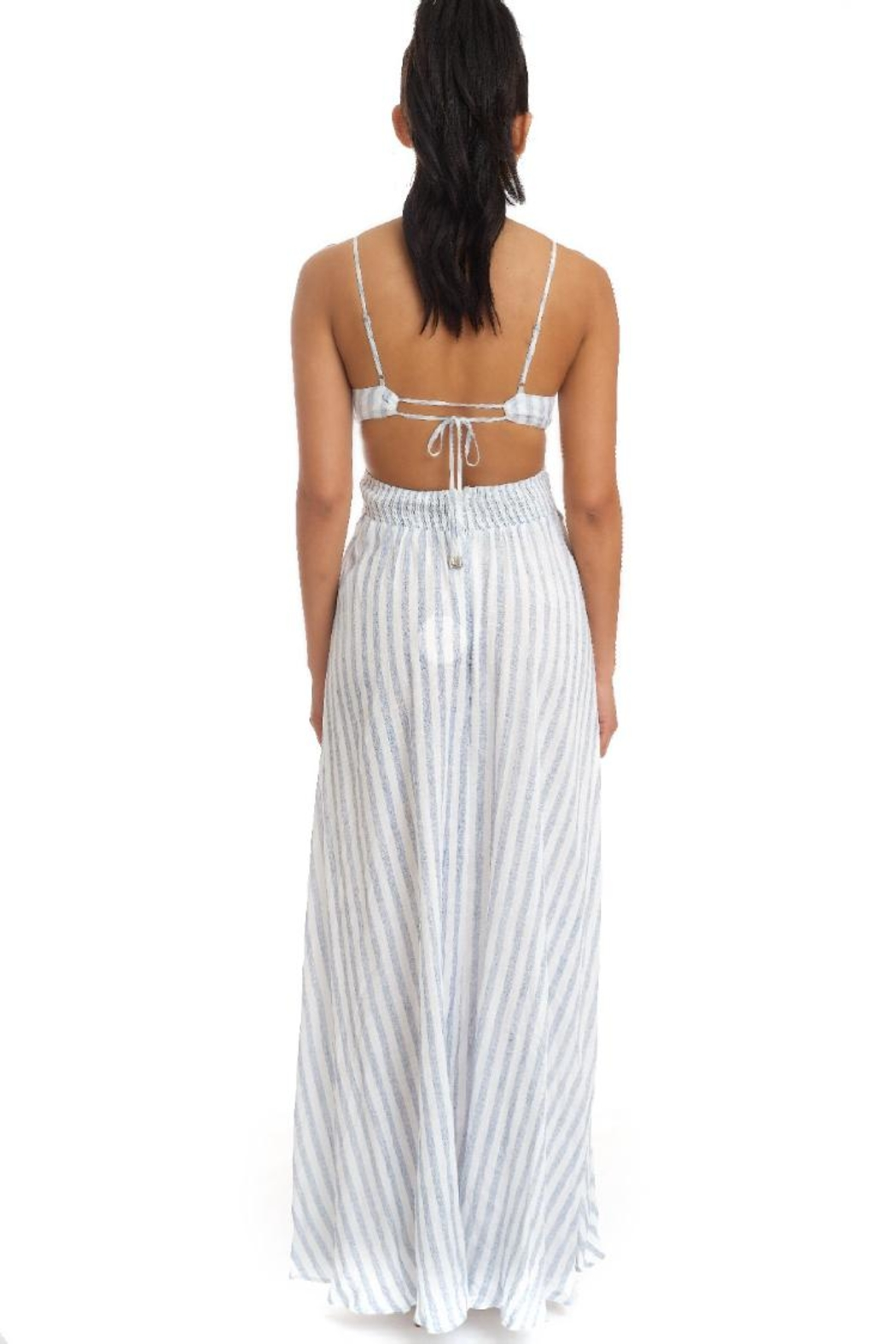 luxxel Crinkle Stripe Maxi - Front Full Image