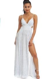 luxxel Crinkle Stripe Maxi - Front cropped
