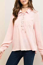 Entro Crinkled Collared Blouse - Product Mini Image
