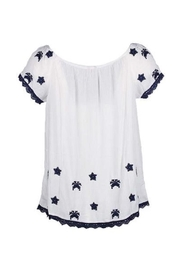 EsQualo Crinkled Embroidered Blouse - Front full body