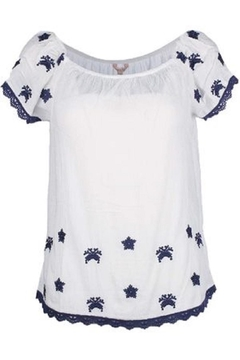 EsQualo Crinkled Embroidered Blouse - Product List Image