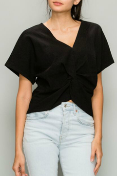 Glam Crinkled front knot top - Product List Image