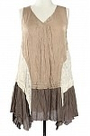 Ryu Crinkled Lace Tunic - Product Mini Image