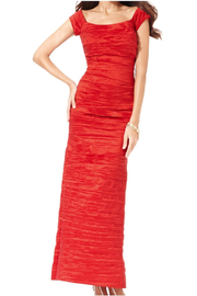 Alex Evenings Crinkled Taffeta Gown, Teal or Red - Product Mini Image