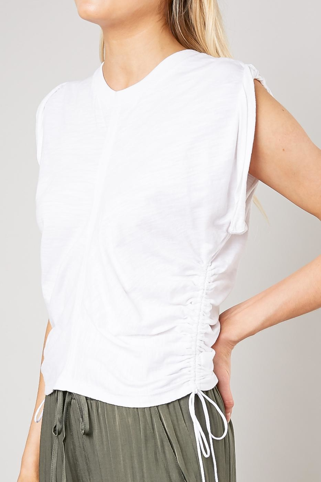 Mustard Seed Crinkled Twist Tee - Back Cropped Image