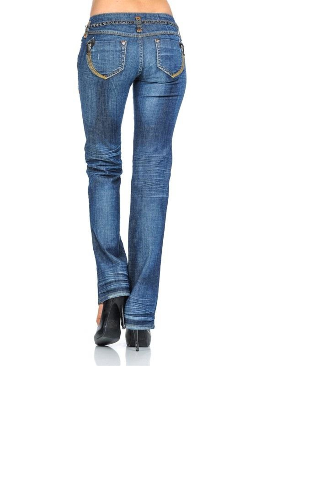 virgin only Crinkly Wash Jeans - Front Full Image