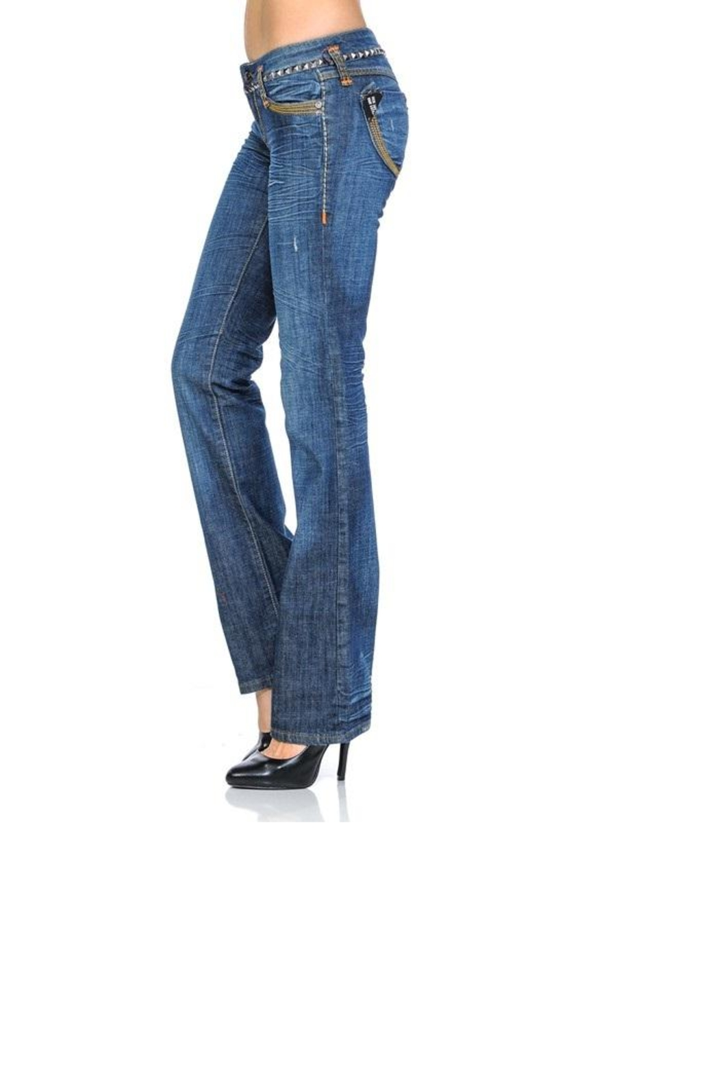 virgin only Crinkly Wash Jeans - Side Cropped Image