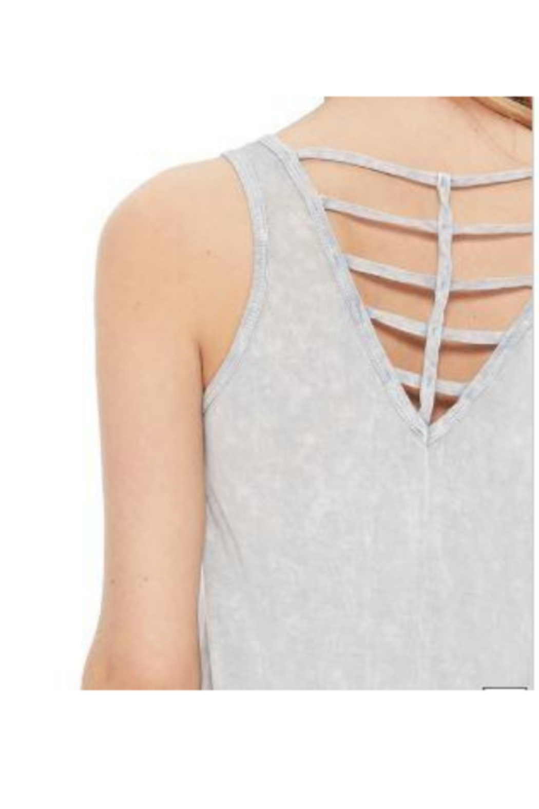 T Party Cris Cros Open Back Tank Top - Front Cropped Image