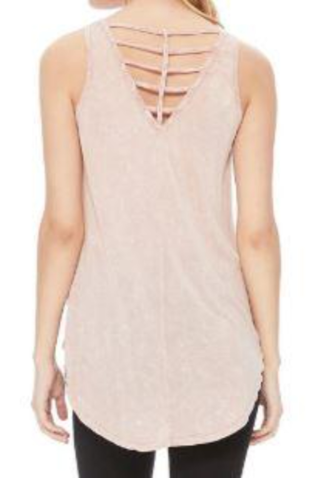 T Party Cris Cros Open Back Tank Top - Front Full Image