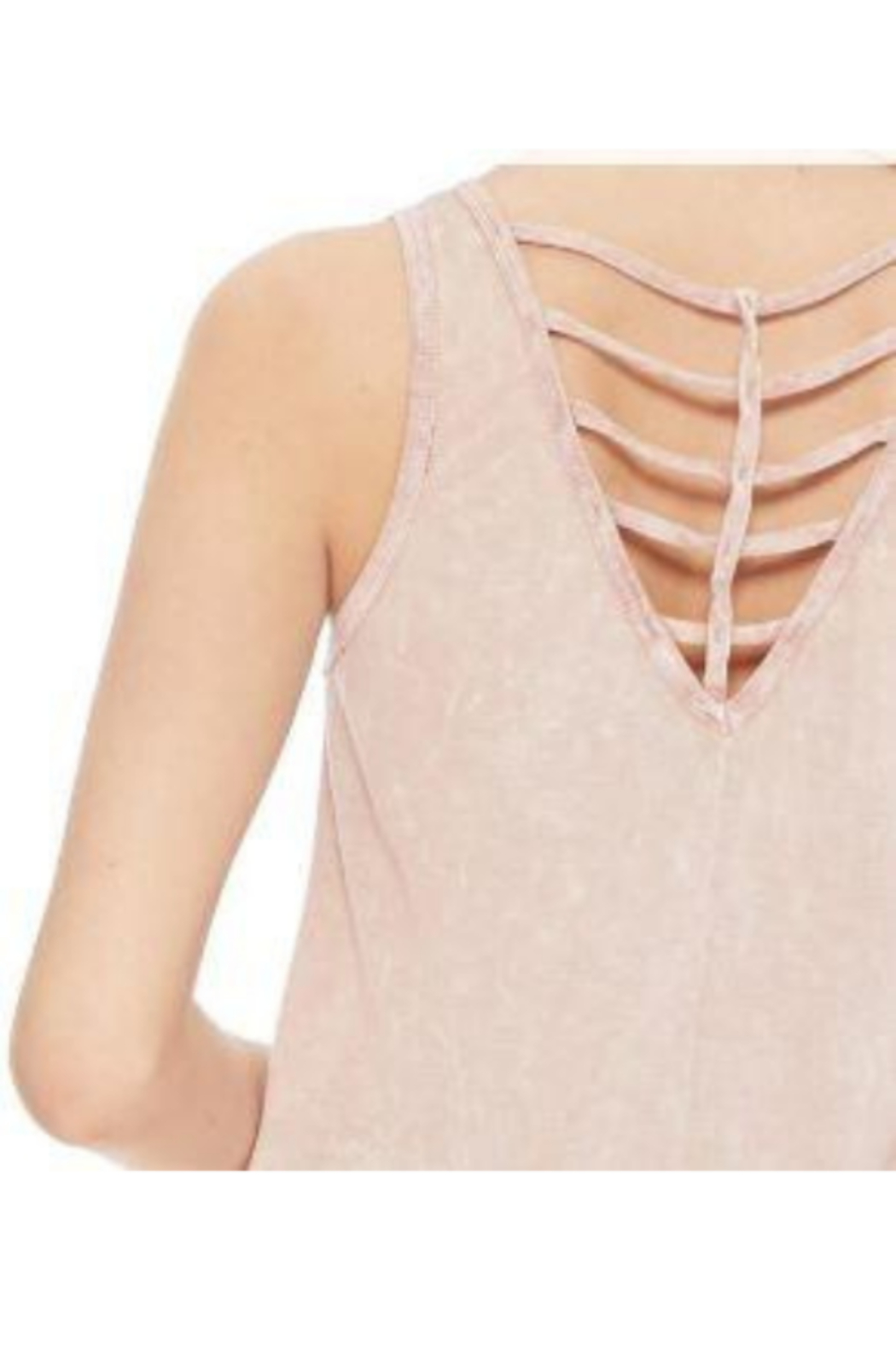 T Party Cris Cros Open Back Tank Top - Side Cropped Image