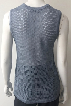 Tibi Crispy Mesh Tank - Alternate List Image