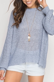 She + Sky Criss-Cross Back Sweater - Back cropped
