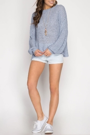 She + Sky Criss-Cross Back Sweater - Product Mini Image