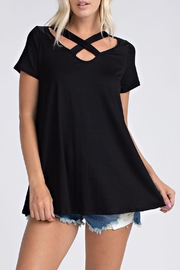 ee:some Criss-Cross Black Top - Product Mini Image