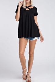 ee:some Criss-Cross Black Top - Front full body